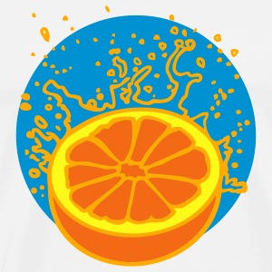White juicy orange or grapefruit (3c) Buttons - Men's Premium T-Shirt