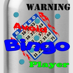 Spider pink Warning Avoid Bingo Player T-Shirts - Water Bottle
