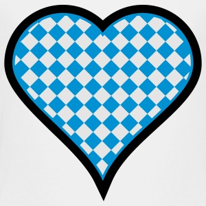 White Bavarian heart (3c) Kids' Shirts - Toddler Premium T-Shirt