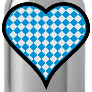 Black Bavarian heart (3c) Bags  - Water Bottle