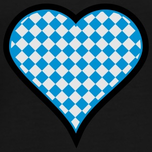 Black Bavarian heart (3c) Bags  - Men's Premium T-Shirt
