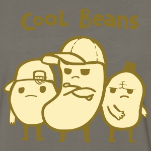 Khaki Cool Beans T-Shirts - Men's Premium Long Sleeve T-Shirt