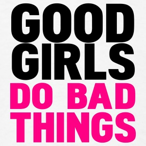White good girls do bad things Buttons - Men's T-Shirt