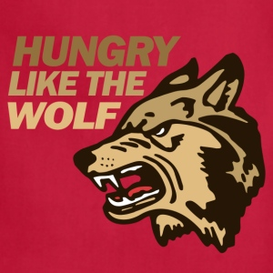 Creme Hungry Wolf Duran Women's T-Shirts - Adjustable Apron