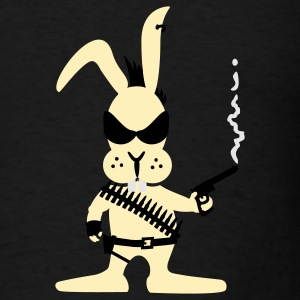 Chocolate killer bunny (3c) Long Sleeve Shirts - Men's T-Shirt