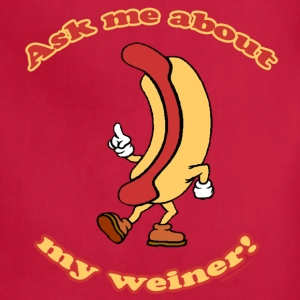 Ask Me About My Weiner Retro T-Shirt - Adjustable Apron