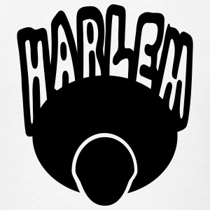 White Harlem, Afro, Face--1 Color Hoodies - Men's T-Shirt