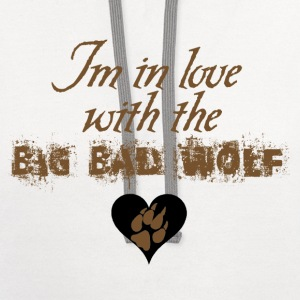 In love with the Big Bad Wolf Jacob Black New moon tee - Contrast Hoodie