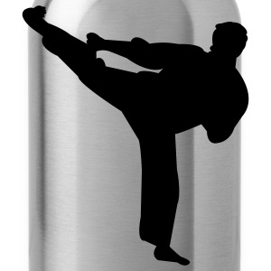 Black Martial arts T-Shirts - Water Bottle