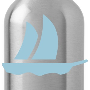 Black sailboat (1c) Bags  - Water Bottle
