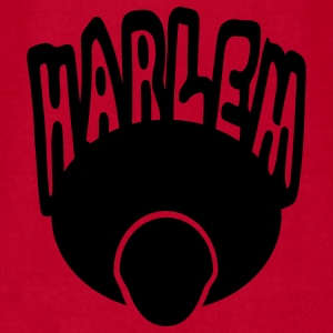 Red Harlem, Afro, Face--1 Color Baby Body - Men's T-Shirt by American Apparel