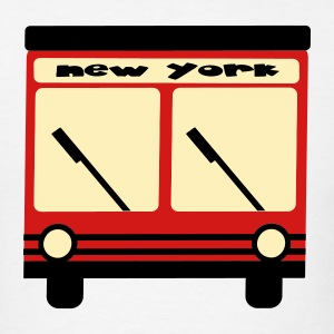 White New York Hybrid Bus, 3 Color Long Sleeve Shirts - Men's T-Shirt
