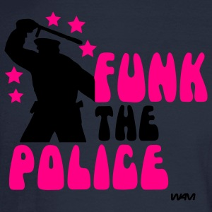 Navy funk the police by wam T-Shirts - Men's Long Sleeve T-Shirt