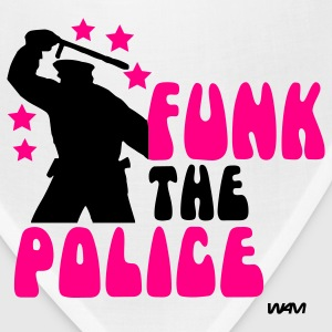 White funk the police by wam Buttons - Bandana