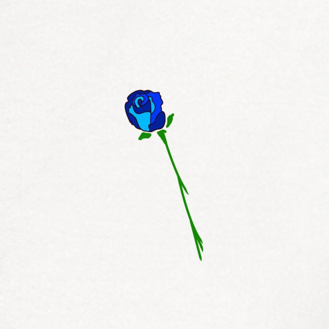 Simple Blue Rose design