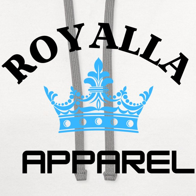 Royalla Apparel LogoBlack with Blue Words