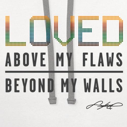 LOVED! (Multicolor) - Unisex Contrast Hoodie
