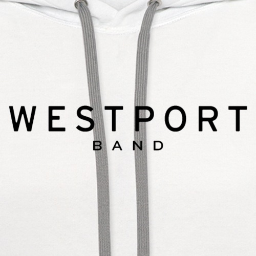 Westport Text Black on transparent - Unisex Contrast Hoodie