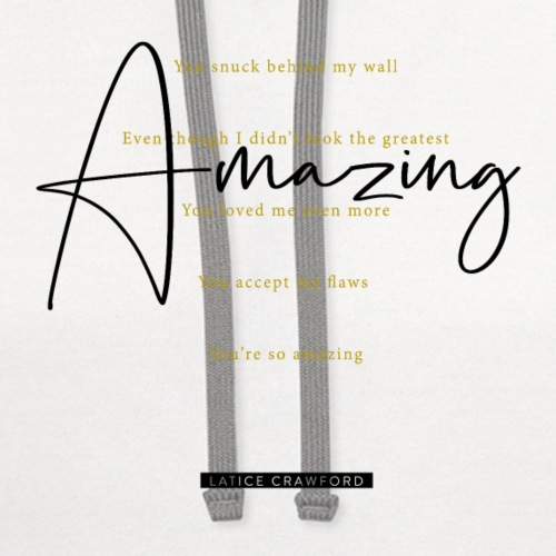 AMAZING (Black Text) - Unisex Contrast Hoodie
