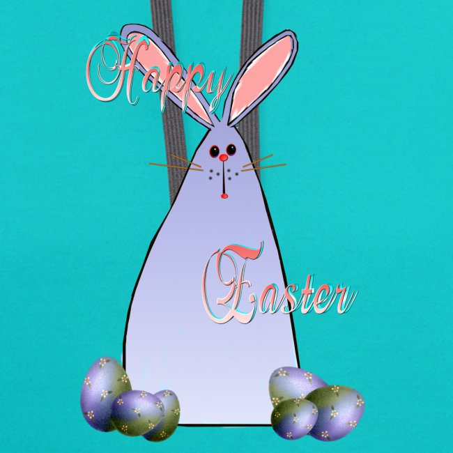 Purple Easter Bunny Lettered