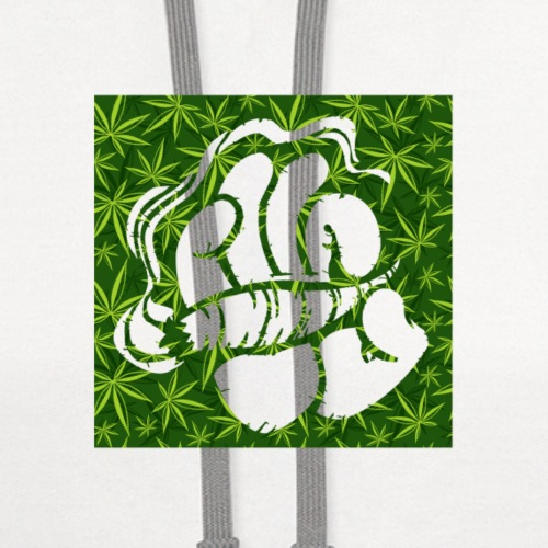 Hand with a joint - smoking weed 420 lifestyle - Contrast Hoodie