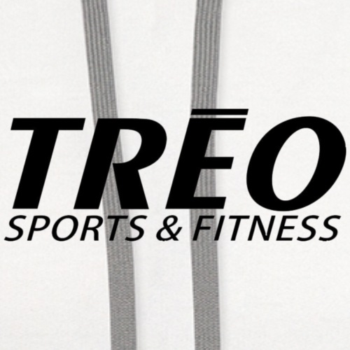 treo logo without white background - Contrast Hoodie