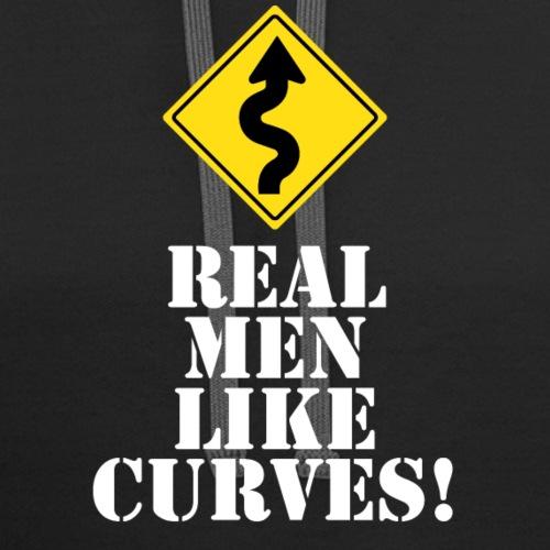 REAL MEN LIKE CURVES! - Contrast Hoodie