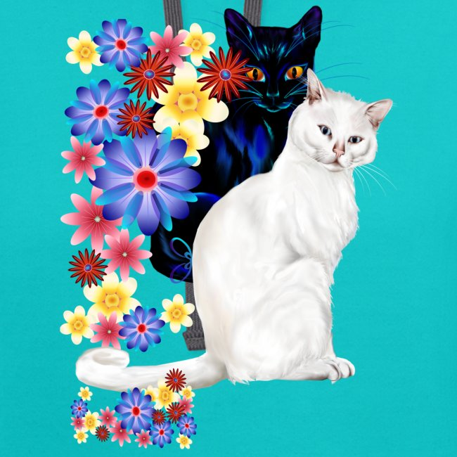 Black and White Garden Kitties..