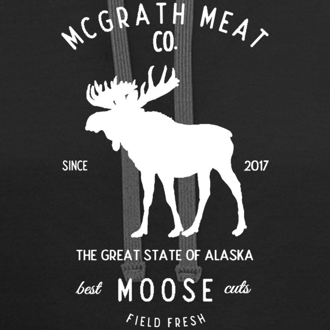 McGrath Meat Company White Stamp Logo