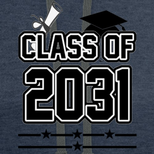 Class of 2031 Grow with me Shirt - Contrast Hoodie
