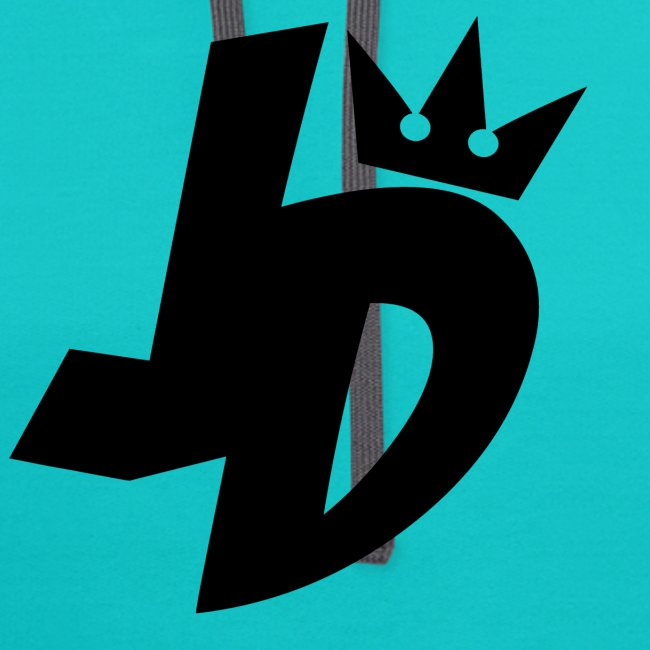 jd logo black unisex contrast hoodie arewhy designs clothing art spreadshirt