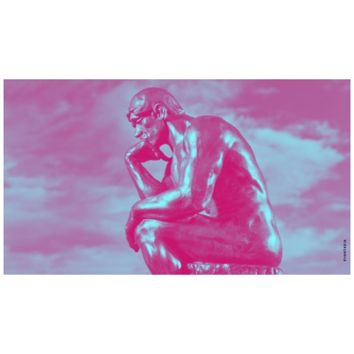 The Neon Thinker - Unisex Contrast Hoodie