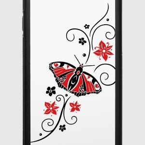 Big colorful butterfly with filigree tribal. - iPhone 6/6s Rubber Case