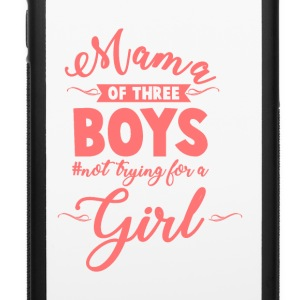 Mama of Three Boys No Girls Pink - iPhone 6/6s Rubber Case
