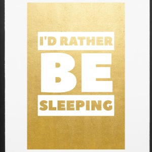 Id rather be sleeping (gold) - iPhone 6/6s Rubber Case