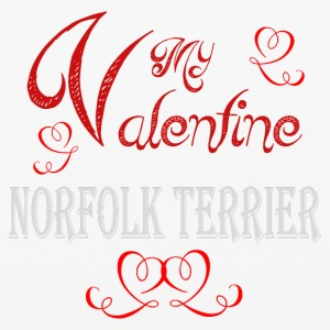 A romantic Valentine with my Norfolk Terrier - iPhone 6/6s Rubber Case