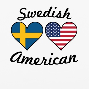 Swedish American Flag Hearts - iPhone 6/6s Rubber Case