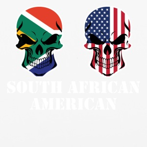 South African American Flag Skulls - iPhone 6/6s Rubber Case
