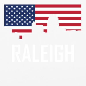 Raleigh North Carolina Skyline American Flag - iPhone 6/6s Rubber Case