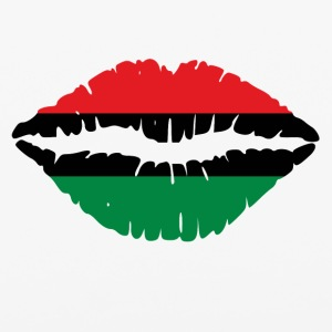 Pan American African Heritage Flag colors Lips - iPhone 6/6s Rubber Case