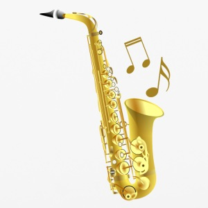 Saxophone with music notes - iPhone 6/6s Rubber Case