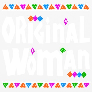 Original Woman - Tribal Design (White Letters) - iPhone 6/6s Rubber Case
