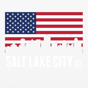 American Flag Salt Lake City Skyline - iPhone 6/6s Rubber Case