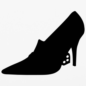 Vector high heels shoes Silhouette - iPhone 6/6s Rubber Case