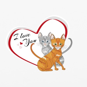 cat in love - iPhone 6/6s Rubber Case