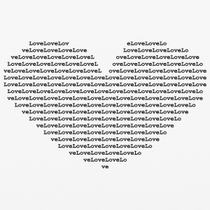 Isle of black Ascii Heart | by Isles of Shirts - iPhone 6/6s Rubber Case