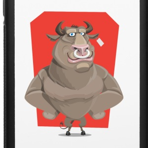 Angry Bull with Nose Piercing Vector Artwork - iPhone 6/6s Rubber Case