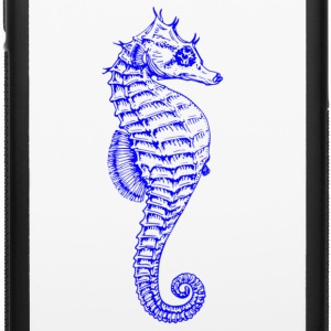 Bright Vibrant Blue Seahorse - iPhone 6/6s Rubber Case