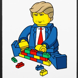 DONALD TRUMP LEGO WALL - iPhone 6/6s Rubber Case