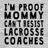 Proof Mommy Can't Resist Lacrosse Coaches - Baby Contrast One Piece